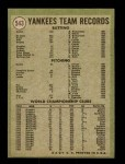 1971 Topps #543   Yankees Team Back Thumbnail