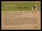 1961 Fleer #96  Jim Ringo  Back Thumbnail