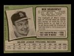1971 Topps #685  Moe Drabowsky  Back Thumbnail