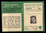 1966 Philadelphia #134  Robert Brown  Back Thumbnail