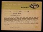 1961 Fleer #142  Archie Matsos  Back Thumbnail