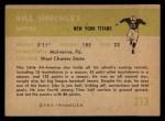 1961 Fleer #213  Bill Shockley  Back Thumbnail