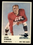 1961 Fleer #70  Jack Stroud  Front Thumbnail