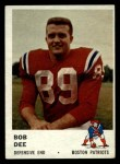 1961 Fleer #187  Bob Dee  Front Thumbnail