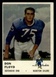 1961 Fleer #176  Don Floyd  Front Thumbnail