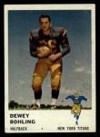 1961 Fleer #214  Dewey Bohling  Front Thumbnail