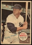 1967 Topps Poster Pin-Up Poster Inserts #6  Mickey Mantle  Front Thumbnail