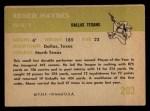 1961 Fleer #203  Abner Haynes  Back Thumbnail