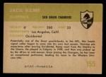 1961 Fleer #155  Jack Kemp  Back Thumbnail
