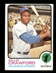 1973 Topps #639  Willie Crawford  Front Thumbnail