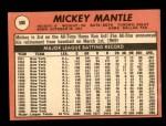 1969 Topps #500 ^YN^ Mickey Mantle  Back Thumbnail