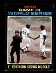 1971 Topps #329   -  Frank Robinson / Paul Blair 1970 World Series - Game #3 - F. Robinson Shows Muscle Front Thumbnail