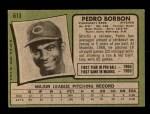 1971 Topps #613  Pedro Borbon  Back Thumbnail