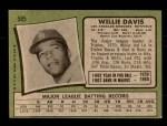 1971 Topps #585  Willie Davis  Back Thumbnail
