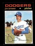 1971 Topps #549  Jim Brewer  Front Thumbnail