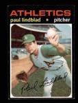 1971 Topps #658  Paul Lindblad  Front Thumbnail