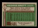 1976 Topps #19  George Brett  Back Thumbnail