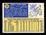 1970 Topps #583  Hal Lanier  Back Thumbnail