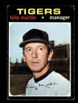 1971 Topps #208  Billy Martin  Front Thumbnail