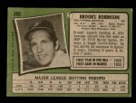 1971 Topps #300  Brooks Robinson  Back Thumbnail