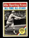 1976 Topps #344   -  Honus Wagner All-Time All-Stars Front Thumbnail