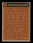1972 Topps #494   -  Willie Horton Boyhood Photo Back Thumbnail