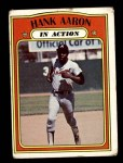 1972 Topps #300   -  Hank Aaron In Action Front Thumbnail