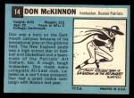 1964 Topps #14  Don McKinnon  Back Thumbnail