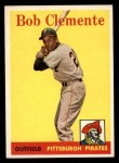 1958 Topps #52 YT Roberto Clemente   Front Thumbnail