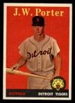 1958 Topps #32 *YN* J.W. Porter  Front Thumbnail
