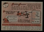 1958 Topps #61 ^WN^ Darrell Johnson  Back Thumbnail