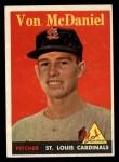 1958 Topps #65 YN Von McDaniel  Front Thumbnail