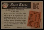 1955 Bowman #242  Ernie Banks  Back Thumbnail
