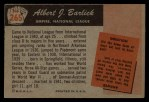 1955 Bowman #265  Albert Barlick  Back Thumbnail