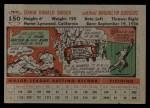 1956 Topps #150 GRY Duke Snider  Back Thumbnail