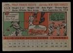 1956 Topps #113 GRY Phil Rizzuto  Back Thumbnail