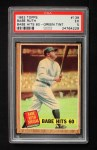 1962 Topps #139 GRN  -  Babe Ruth Babe Hits 60 Front Thumbnail