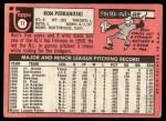1969 Topps #77 LA Ron Perranoski   Back Thumbnail