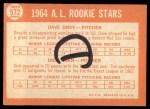1964 Topps #572   -  Dave Gray / Dick Egan AL Rookies Back Thumbnail
