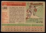 1955 Topps #189  Phil Rizzuto  Back Thumbnail
