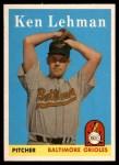 1958 Topps #141  Ken Lehman  Front Thumbnail