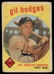 1959 Topps #270  Gil Hodges  Front Thumbnail