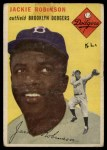 1954 Topps #10  Jackie Robinson  Front Thumbnail