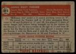 1952 Topps #373  Jim Turner  Back Thumbnail