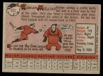 1958 Topps #452  Roman Mejias  Back Thumbnail