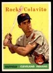 1958 Topps #368  Rocky Colavito  Front Thumbnail