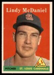 1958 Topps #180  Lindy McDaniel  Front Thumbnail