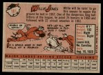 1958 Topps #181  Willie Jones  Back Thumbnail