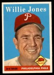 1958 Topps #181  Willie Jones  Front Thumbnail