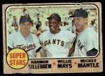 1968 Topps #490   -  Harmon Killebrew / Willie Mays / Mickey Mantle Super Stars Front Thumbnail